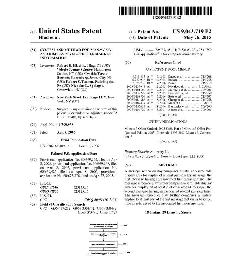 Patent 9,043,719